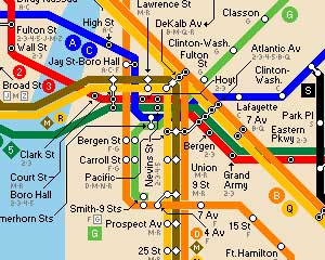Subway Map New York - Part