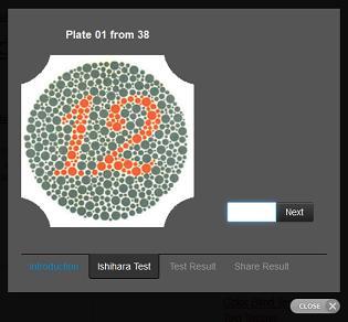 Ishihara 38 Plates CVD Test