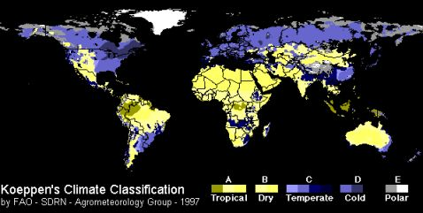 Climate Classification - Blue Yellow