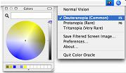 Color Oracle Deuteranopia Settings