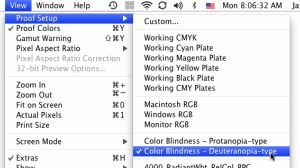 Photoshop CS4 Color Blindness Option