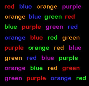 Stroop Test - Can You Read the Colors? - Colblindor
