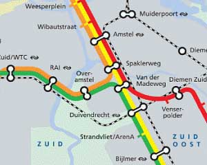 Subway Map Amsterdam - Part